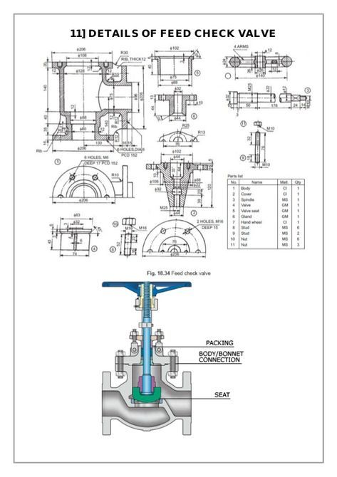 Assembly And Details Machine Drawing Pdf In 2019