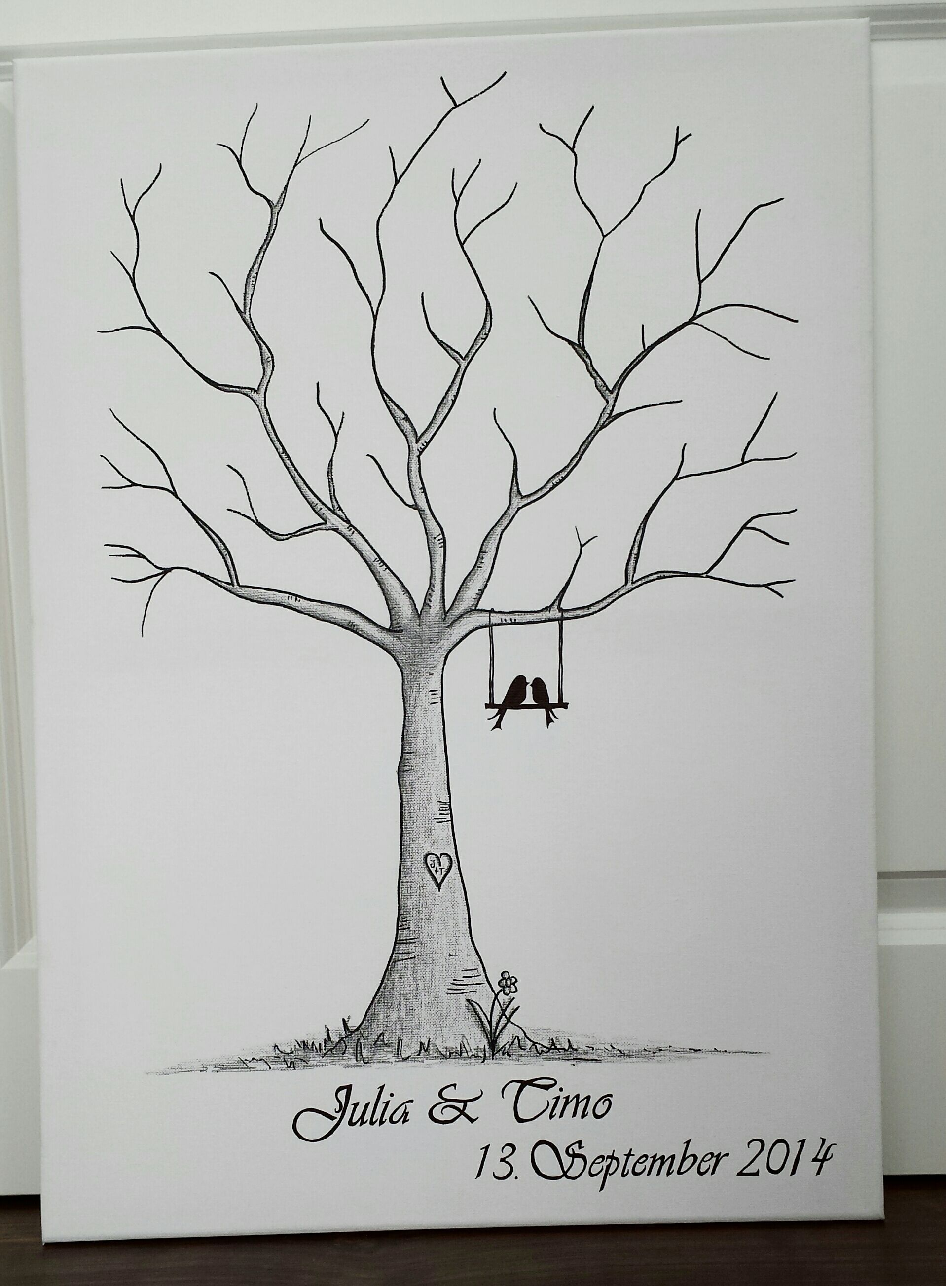 toller wedding tree guestbook g stebuch auf ebay. Black Bedroom Furniture Sets. Home Design Ideas