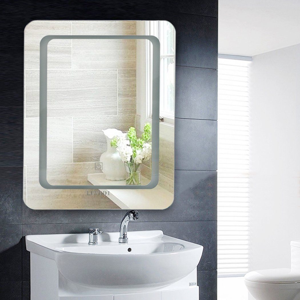 16 X 20 Led Lighted Wall Mounted Mirror Backlit Vanity Mirror For