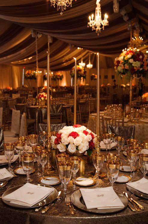 Wedding Color Scheme, Gold Wedding, Ceremony and Reception Décor ...