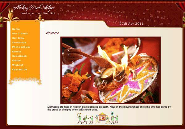 Indian Wedding Website Theme
