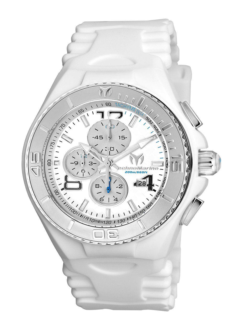 TR Men's TM-115108 Cruise JellyFish Quartz Silver Dial Watch