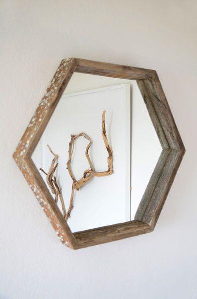 Spiegel Treibholz sechseckiger treibholz spiegel cosmos ii treibholz spiegel