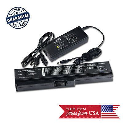 Supply 6cells Battery and AC Power Adapter 90W with Cord For Toshiba L730 L755