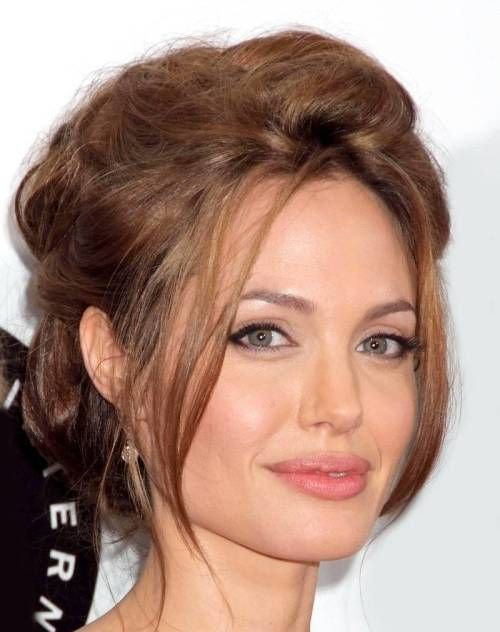 50 Best Hairstyles for Square Faces Rounding the Angles   Messy updo ...