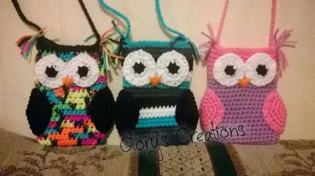 Crochet Owl Purse Or Cellphone Pouch Glorys Crochet Creations