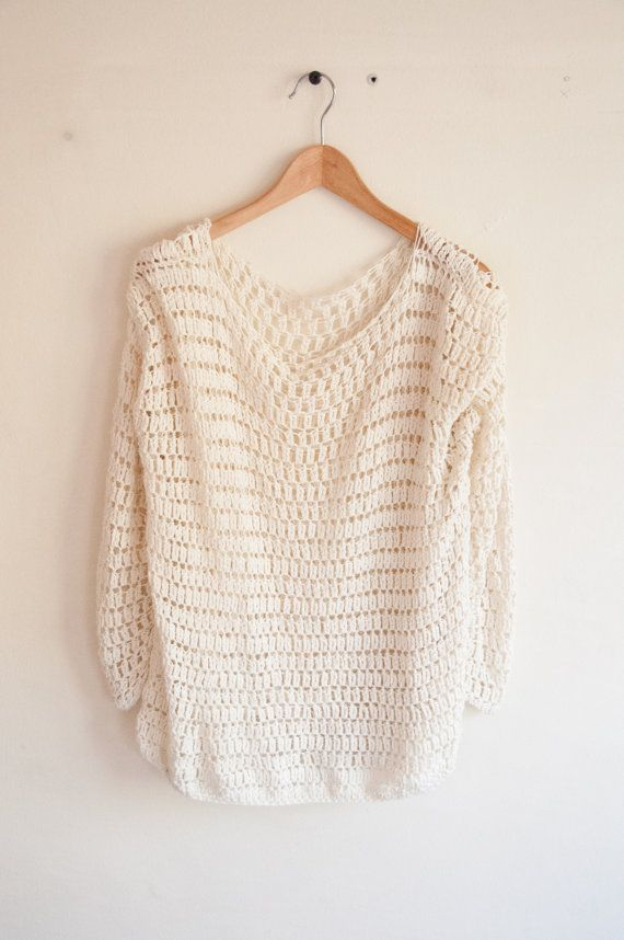 Crocheted sweater - MADE TO ORDER. via Etsy | crocheted clothing ...