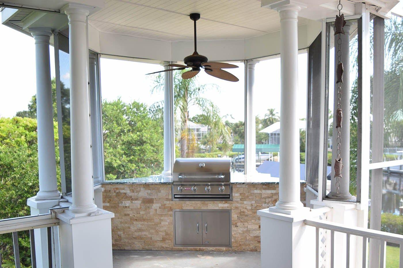 Summer Outdoor Kitchen Tidewater Island In Fort Myers Elegant Outdoor Kitchens Outdoor Kitchen Build Outdoor Kitchen Outdoor Kitchen Cabinets