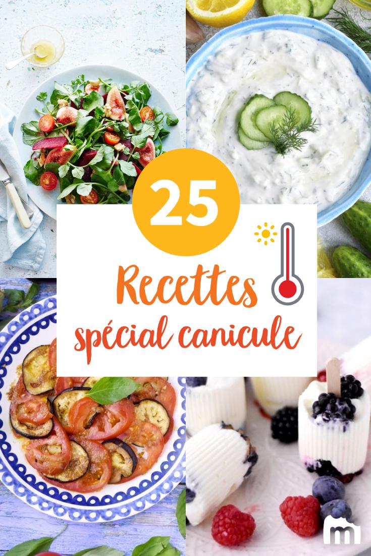 25 Recettes A Faire Quand Il Fait Tres Chaud Recettes De Cuisine Idee Repas Ete Idee Recette Ete