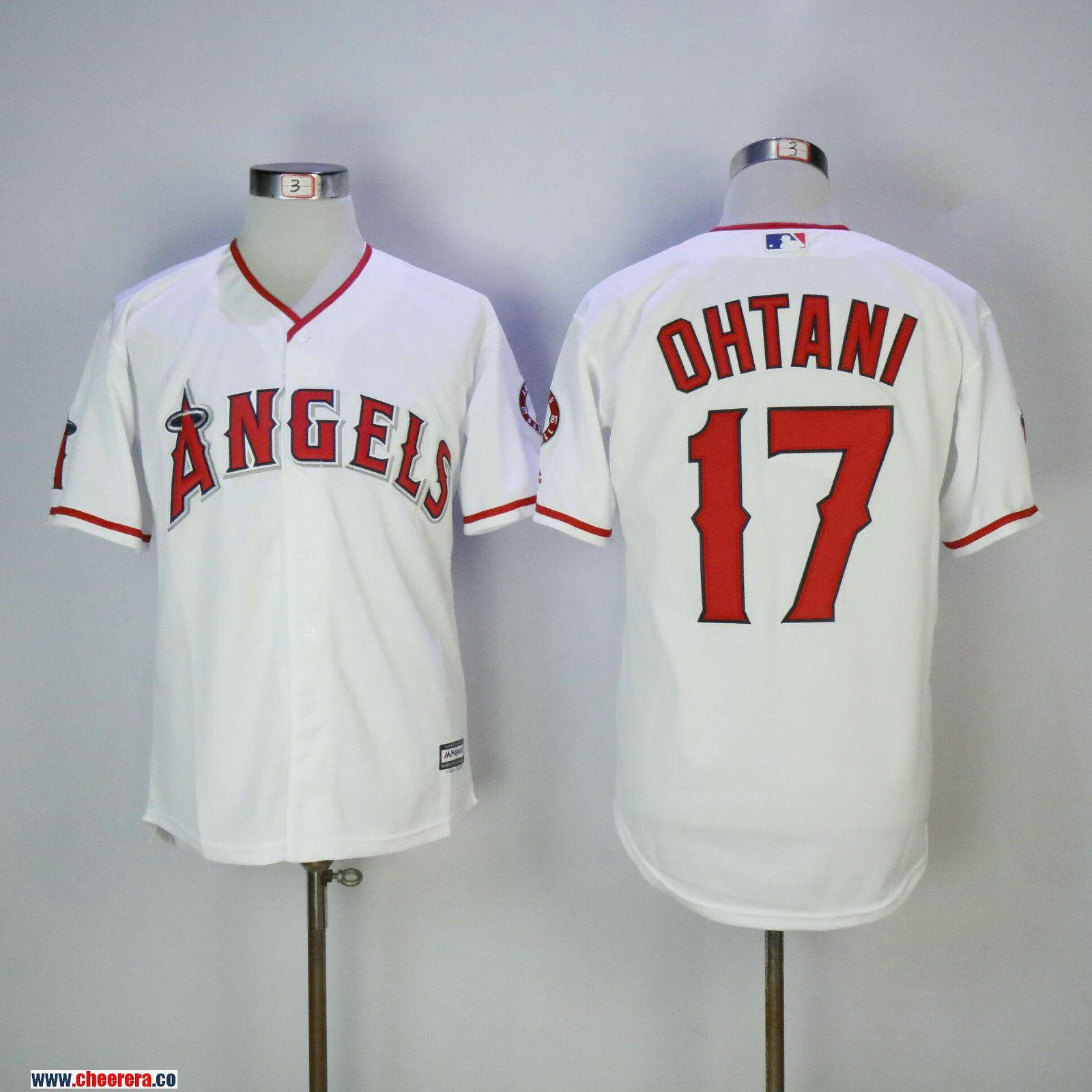 pretty nice 463c2 31bda Men's Los Angeles Angels #17 Shohei Ohtani White Home ...