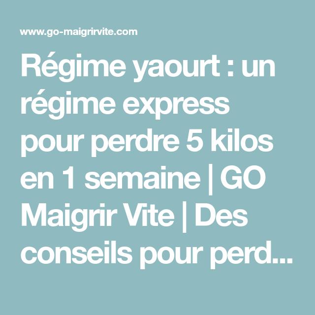 Régime yaourt : un régime express pour perdre 5 kilos en 1