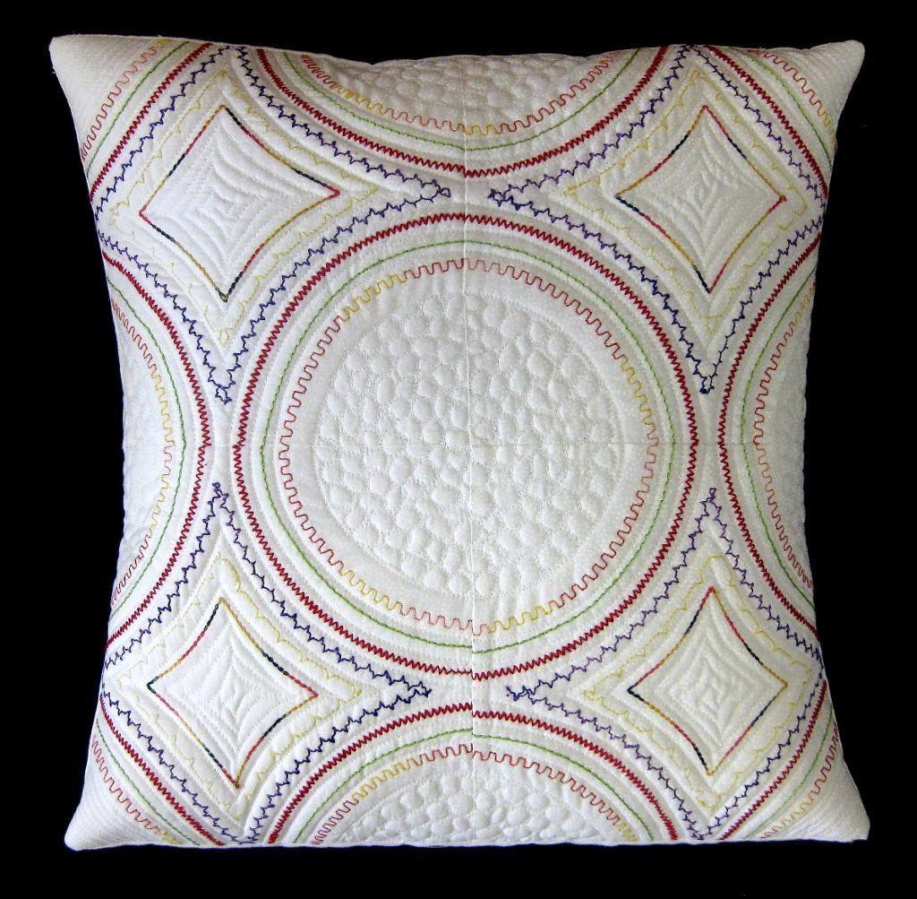 Modern PillowCarol Ann Waugh what a great idea use the decorative