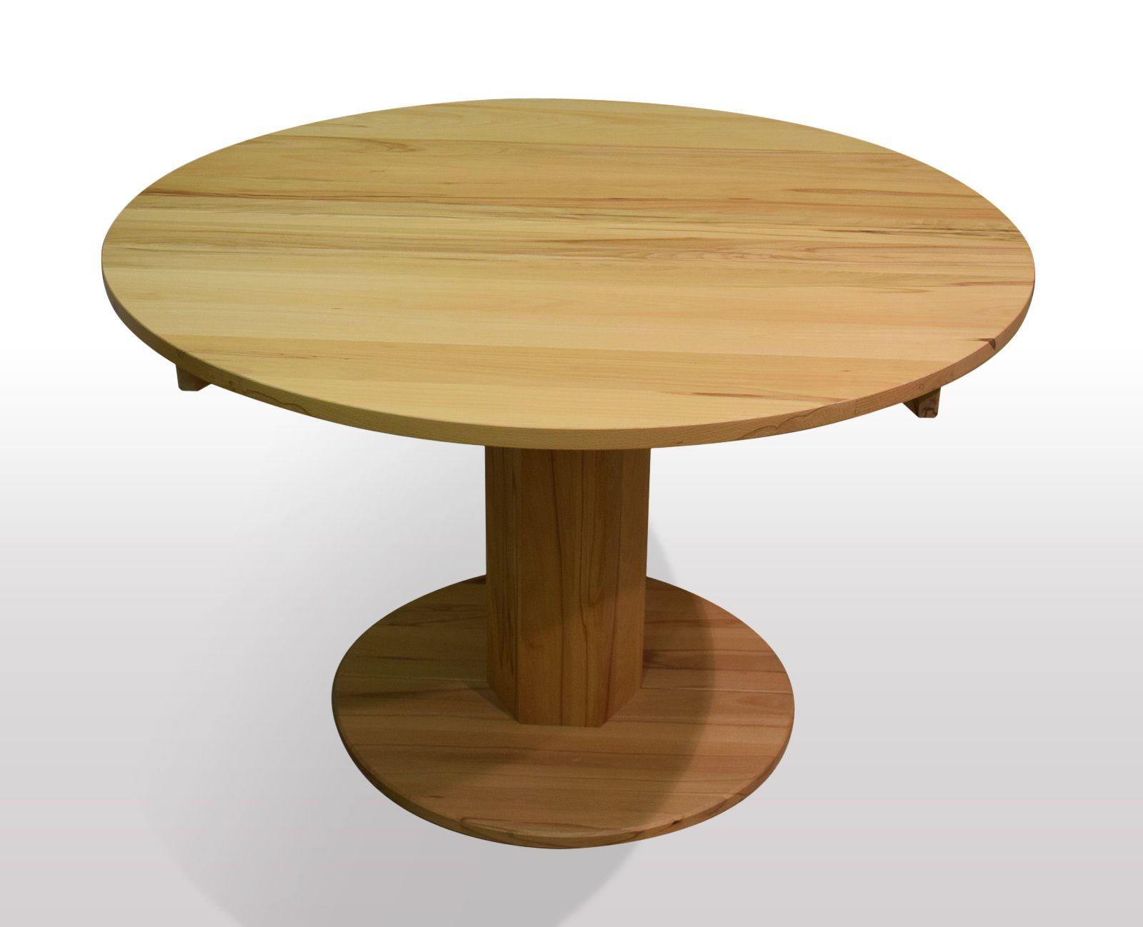 runde massivholztische ausziehbar und auf ma in ihrem wunschholz in handarbeit gefertigt. Black Bedroom Furniture Sets. Home Design Ideas