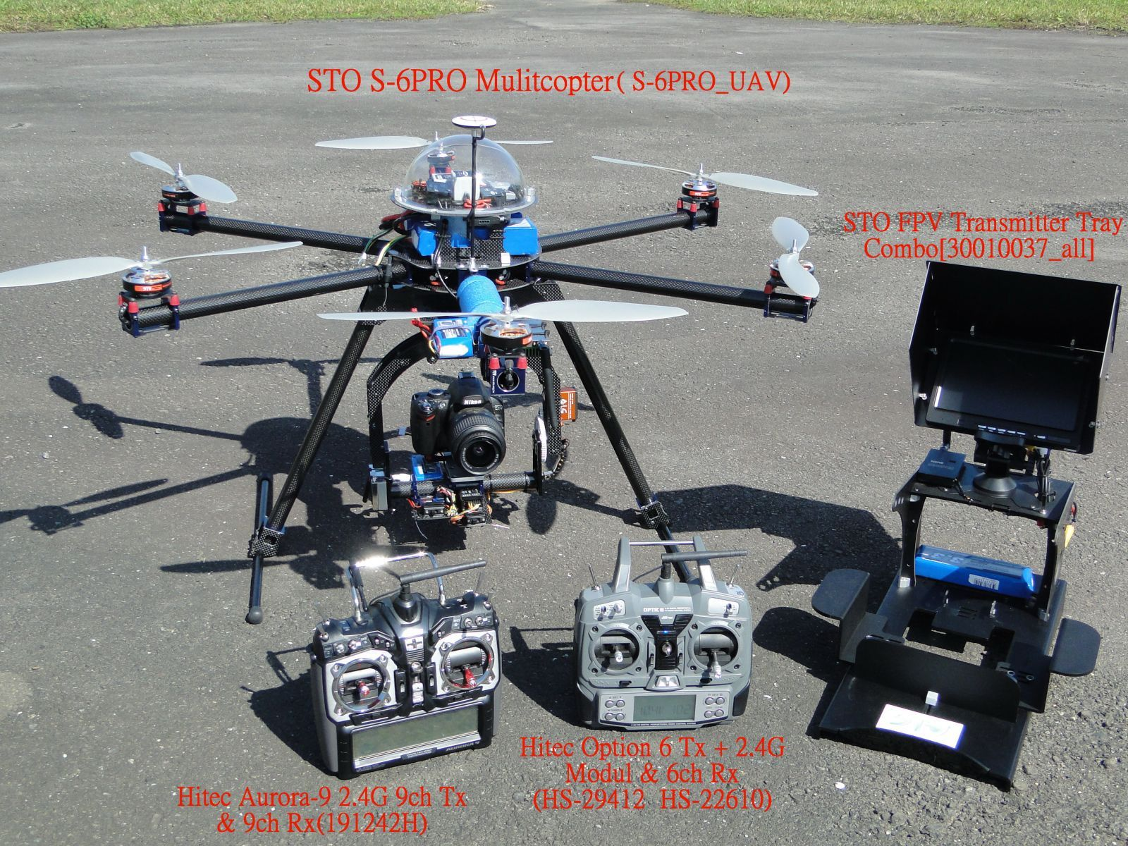1. The aerial vehicle is S6-PRO + Wookong UAV Combo. 2. The radio ...