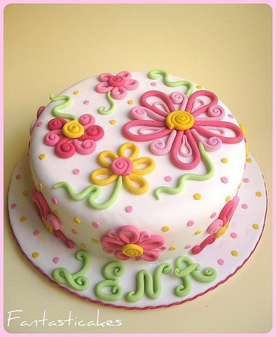 Cake decorating ideas for beginners spring theme cake for How to decorate a cake for beginners