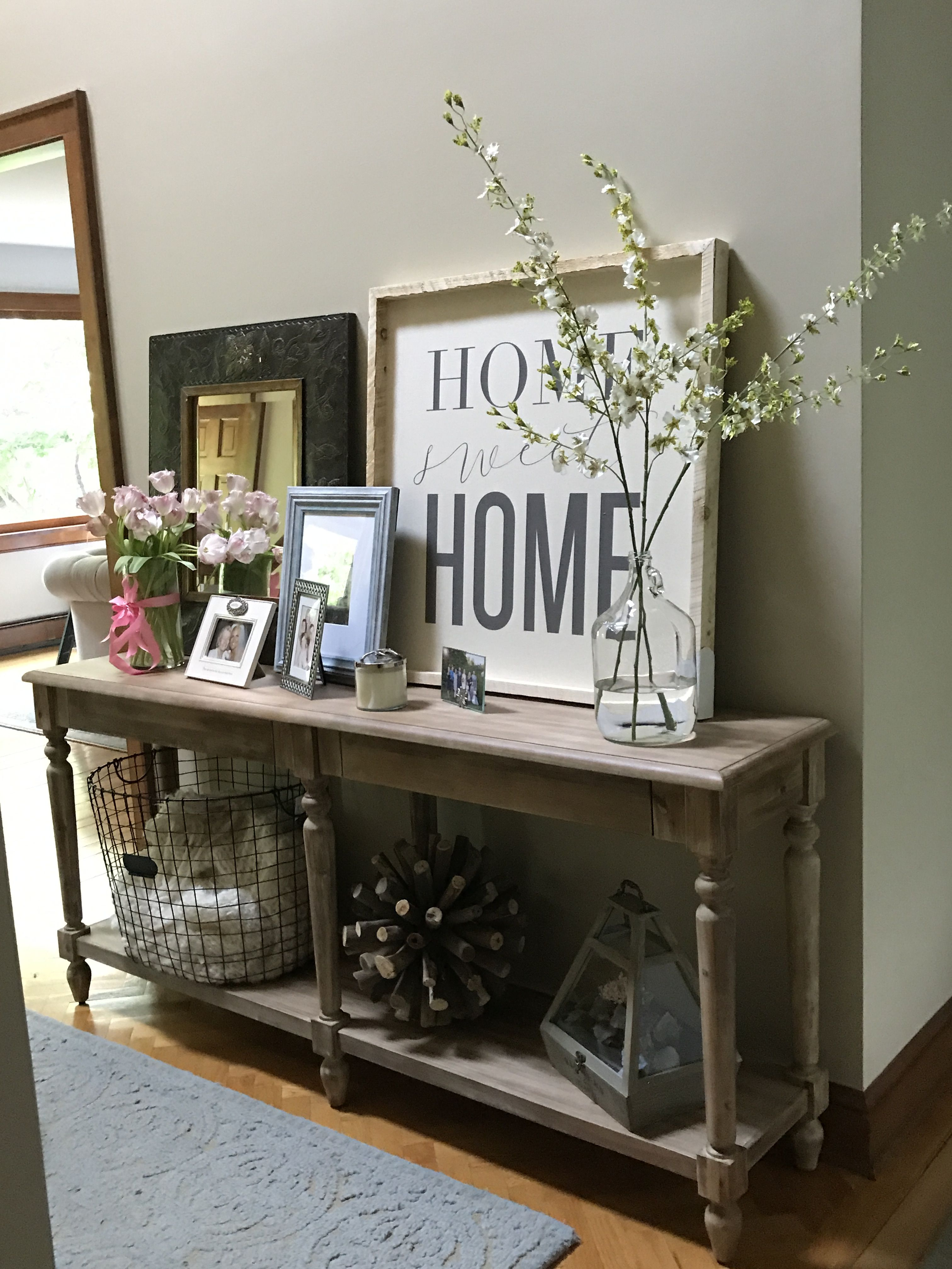 I Love Our World Market Everett Foyer Table In Our Entryway Need To Buy A 2nd One For Family Industrial Farmhouse Decor Sofa Table Decor Farmhouse Sofa Table