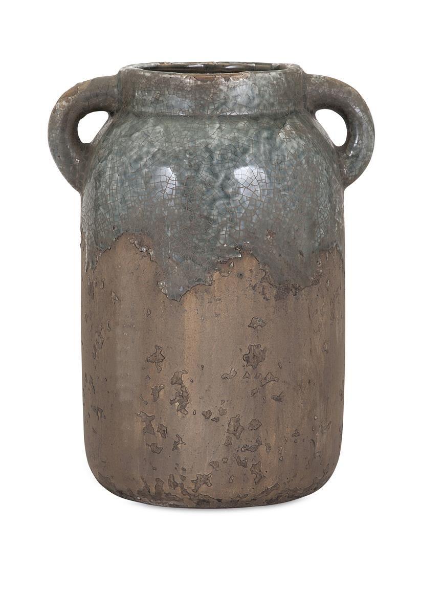 Bardot large blue stone ceramic vase stone