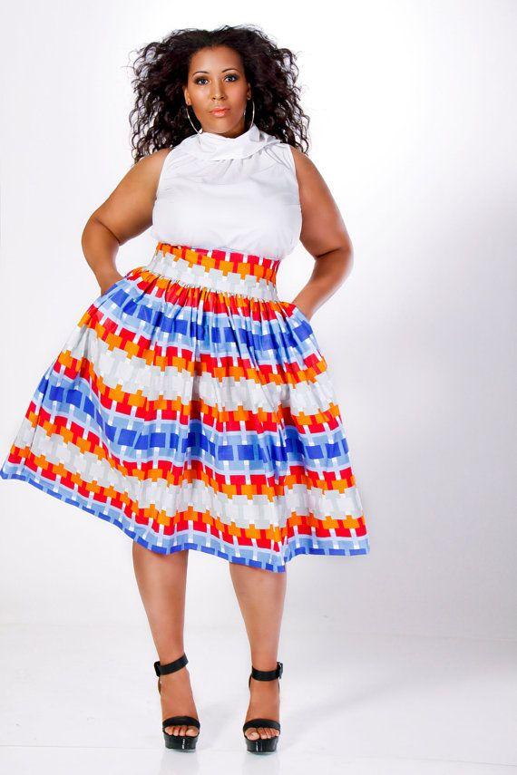 Jibri Plus Size High Waist Flare Skirt Lego Dreams Of A Curvy