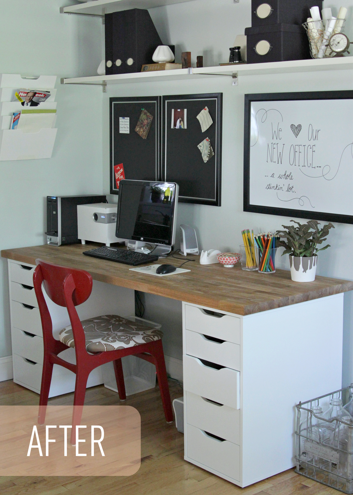 Ikea Home Office Youtube The Lovely Cupboard Our Ikea Office Makeover NumerÄr