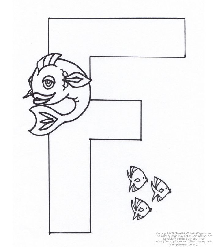 Letter F Coloring Page Coloring Pages Coloring