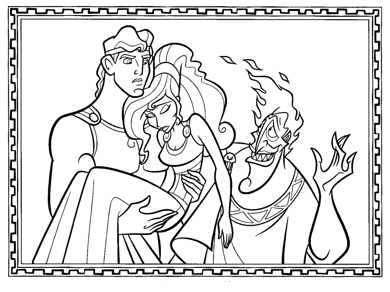 coloriage hercule  Cartoon coloring pages, Disney coloring pages