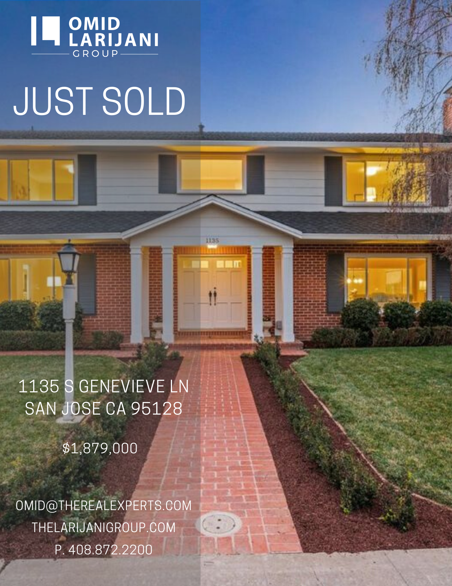 🏡 JUST SOLD! Thank you for trusting me as your #RealEstateExpert!  #realestate #properties #santaclara #sanjose #sunnyvale #cupertino #losgatos #willowglen #campbell #saratoga #mountainview #paloalto #milpitas #fremont #redwoodcity #houses #investor #investment #siliconvalley #siliconvalleyrealestate #siliconvalleyproperties #homesforsale #california #bayarea #realestatebroker #realestateinvestor #homebuyers #larijanigroup #realtor