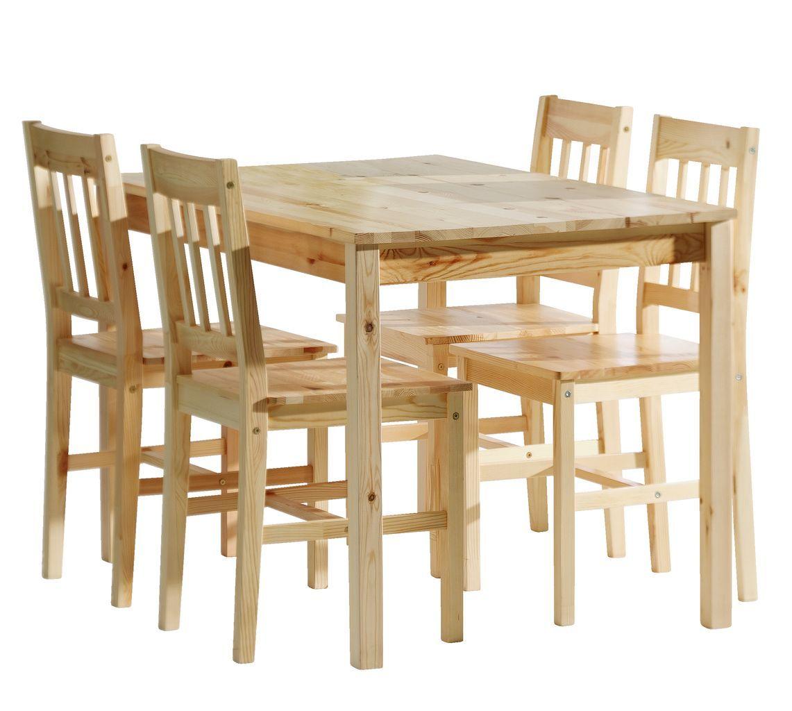 Asztal TYLSTRUP + 4 szék TYLSTRUP fenyő | JYSK | Dining