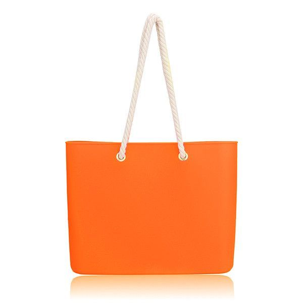 Super Cool Silica Gel Transparent Waterproof Beach Totes 7 Candy Color Options To Choose From