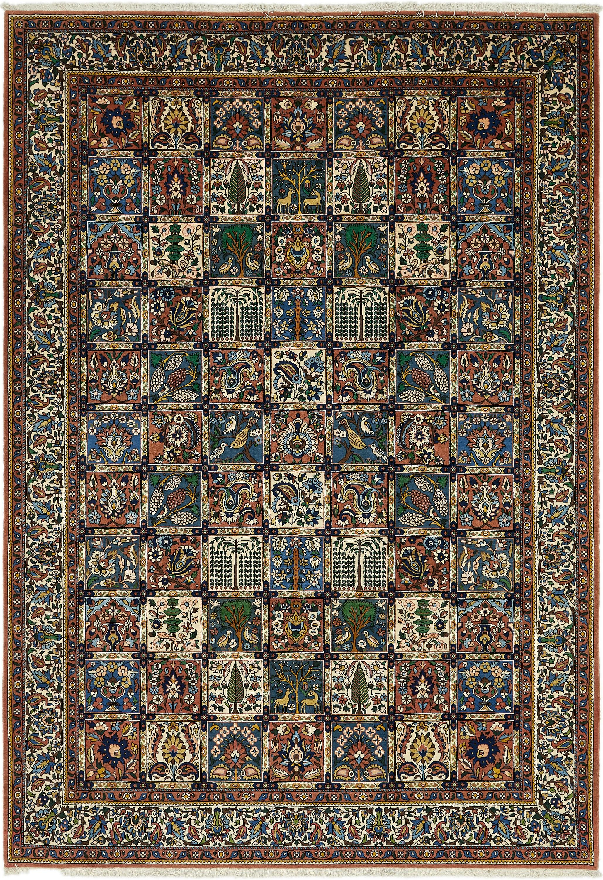 Blue 8 4 X 12 Bakhtiar Persian Rug Esalerugs Persian Rug Rugs Large Area Rugs
