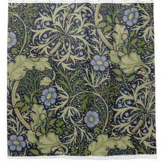 William Morris Seaweed Pattern Shower Curtain Shower Curtain