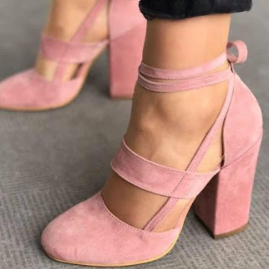 ba2e32d73ab blockheels  wellvet  pink  casualstyle  favourite  pretty