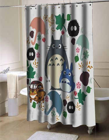 My Neighbor Totoro Shower Curtain Shower Curtain Shower Curtains