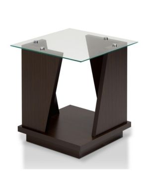 Miley Modern Glass End Table Brown Glass Top End Tables Glass