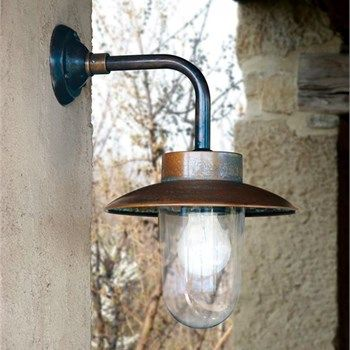 Classic Aged Copper And Brass Outdoor Wall Light Outdoor Wall Lighting Wall Lights Exterior Wall Light