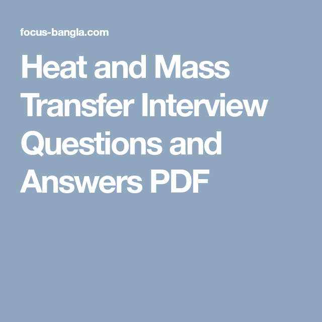 Heat Transfer Multiple Choice Questions And Answers Pdf With Images This Or That Questions Interview Questions Interview Questions And Answers
