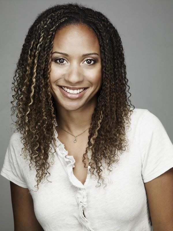 Tracie Thoms Two Strand Twists With Baby Curl Extensions Natural Hair Stylesnatural