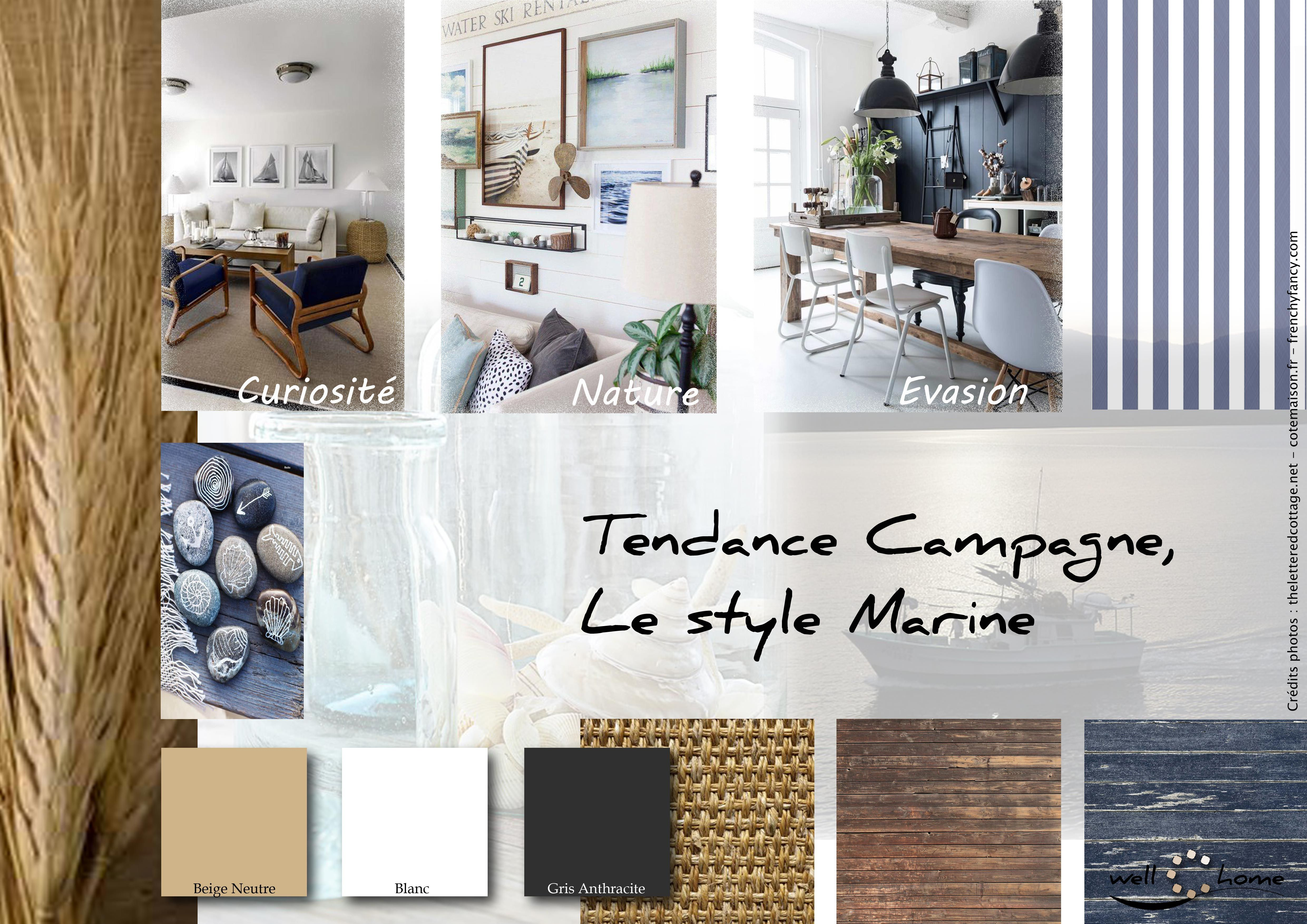 Campagne Chic Deco Moodboard Déco Planche D Ambiance Tendance Campagne Style