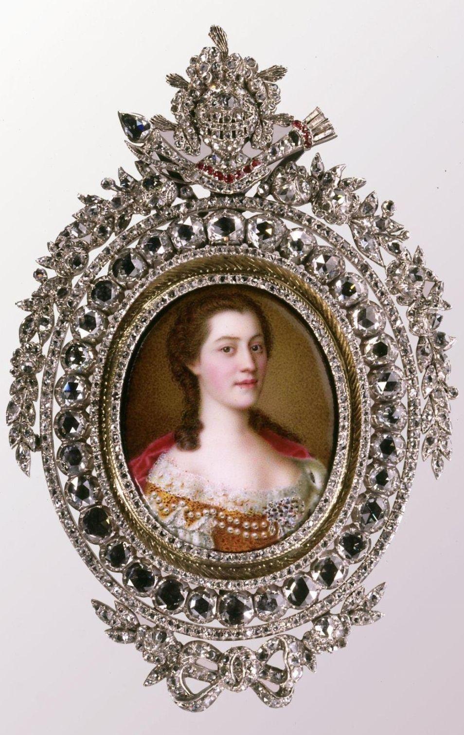 Portrait of Anna of Austria, Duchess of Lorraine (Jean-Etienne Liotard, Switzerland, ca. 1744) Hillwood Museum, Washington