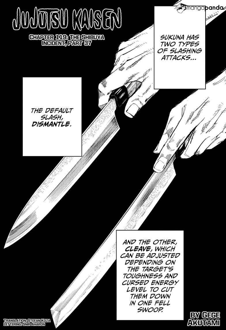 Jujutsu Kaisen Ch 119 Page 1 Mangago In 2021 Jujutsu Chapter Shibuya