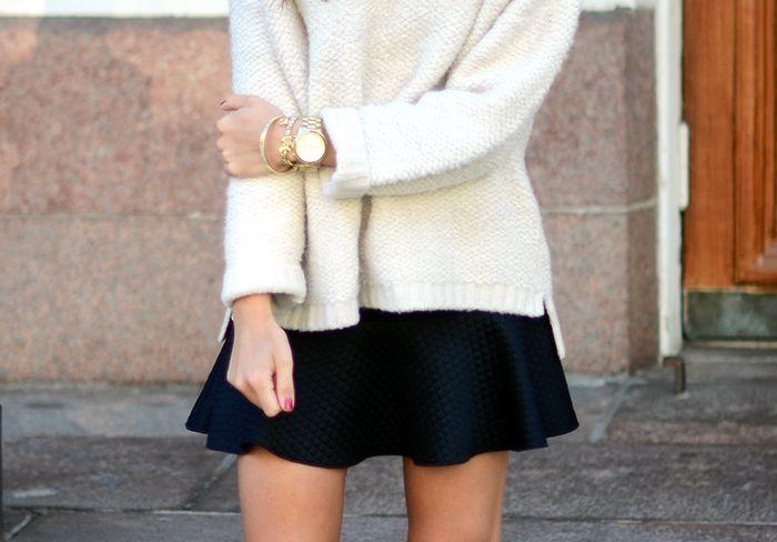 RANDOM | fluffy knit and a mini.