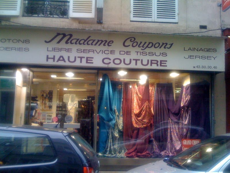 Madame coupons beautiful haute couture fabric from