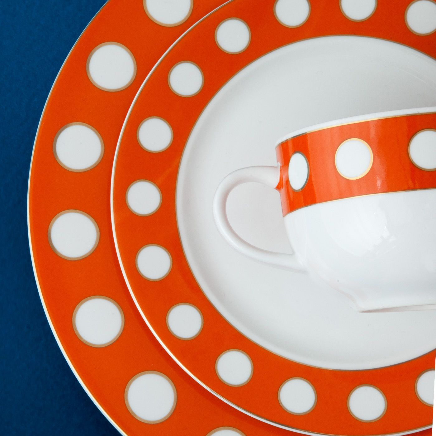 Jonathan Adler Mod Dot 4 Piece Setting in Dinnerware | Orange__ ...