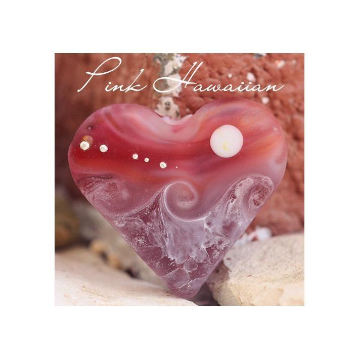 Pink Hawaiian Heart Bead