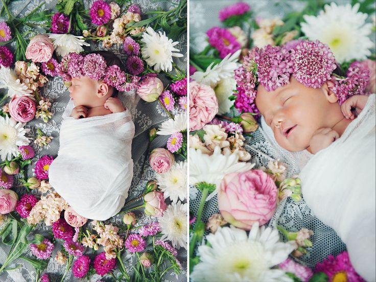 Image result for baby flower photography