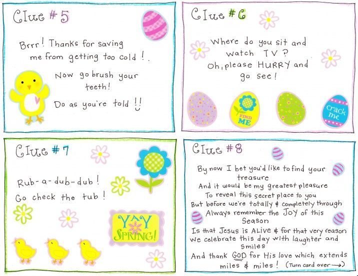 Easter Morning Scavenger Hunt Free Printable Easter