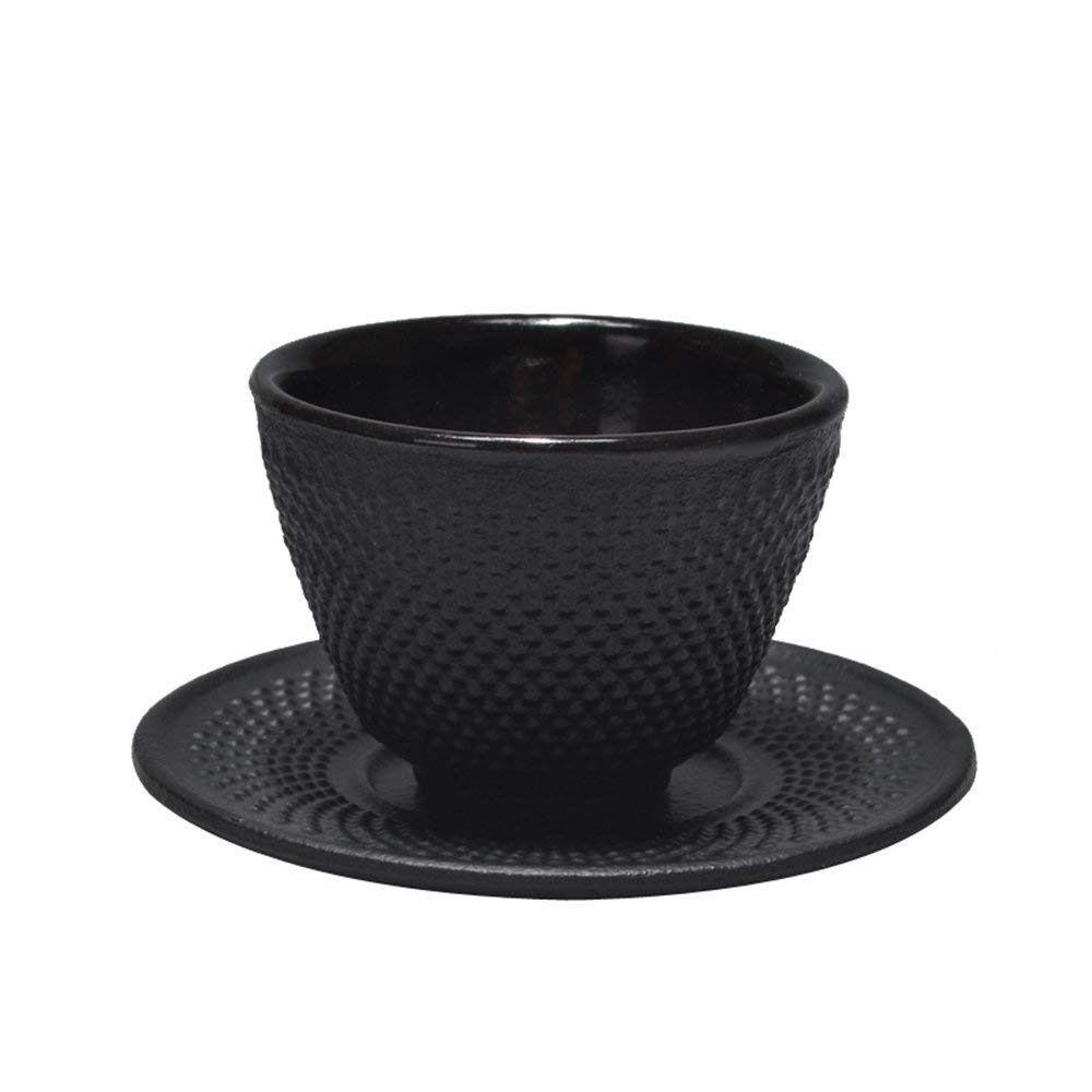 Chanmol Tea Cup And Saucer Cast Iron Set Teacup With Cup Mat Pad Classic Art Dot Fashion Home Garden Homedcor Cast Iron Set Tea Accessories Teacup Candles