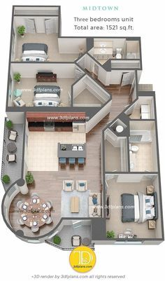 3D Floor Plans Midtown Florida • 3D Floor Plans