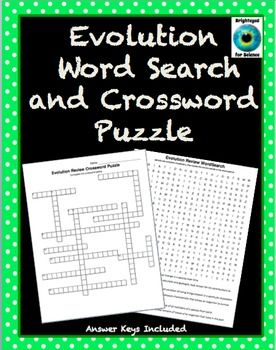 Evolution Word Search And Crossword Puzzle Science Teaching