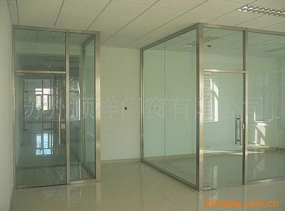 Stainless Steel Frameless Glass Office Partition Glass Office
