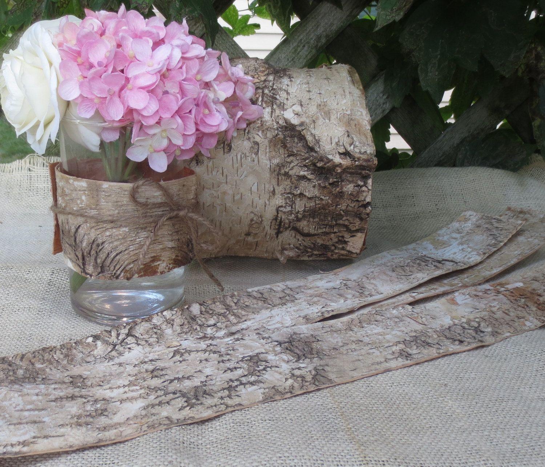 Wedding decor images  Birch Bark Sheets DIY Wedding Decor Rustic by BirchHouseMarket